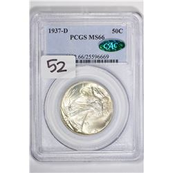 1937-D 50C Walking Liberty Half Dollar