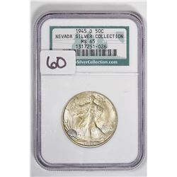 1945-D 50C Walking Liberty Half Dollar