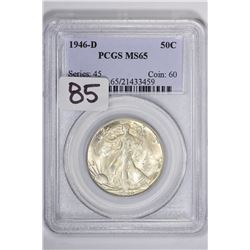 1946-D 50C Walking Liberty Half Dollar