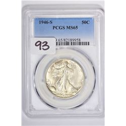 1946-S 50C Walking Liberty Half Dollar