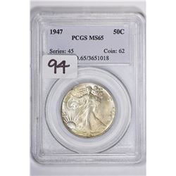 1947 50C Walking Liberty Half Dollar