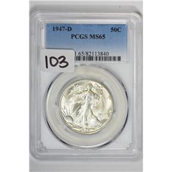 1947-D 50C Walking Liberty Half Dollar
