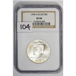 1998 50C Kennedy Half Dollar