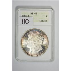 1881-S $1 Morgan Dollar