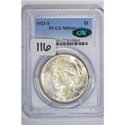 1923-S $1 Peace Dollar