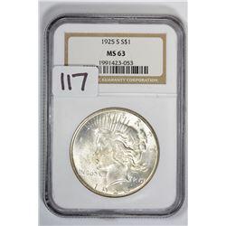 1925 $1 Peace Dollar