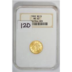 1902 $2.50 Quarter Eagle