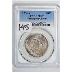 1952-S 50C Washington-Carver Commemorative Half Dollar