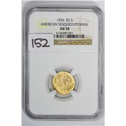 1926 $2.50 American Sesquicentennial