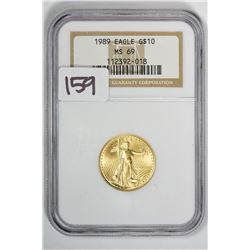 1989 $10 Eagle