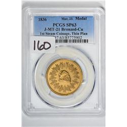 1836 Medal J-MT-21 Bronzed-Cu