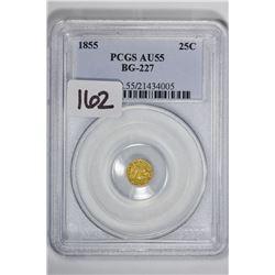 1855 25C Cal Gold BG-227