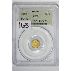 1852 50C Cal Gold BG-401