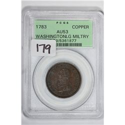 1783 Copper Washington LG Military