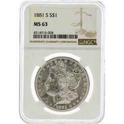 1881-S NGC MS63 Morgan Silver Dollar