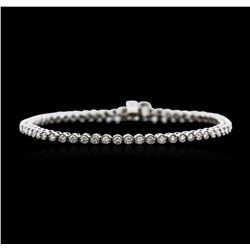 14KT White Gold 1.87 ctw Diamond Tennis Bracelet