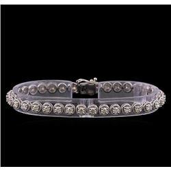 3.95 ctw Diamond Bracelet - 14KT White Gold