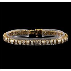 4.90 ctw Diamond Bracelet - 14KT Yellow Gold