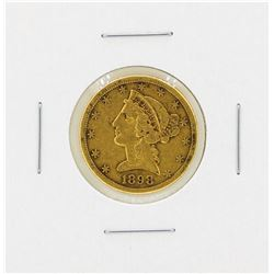 1898S $5 Liberty Head Gold Coin