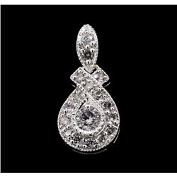 0.25 ctw Diamond Pendant - 14KT White Gold