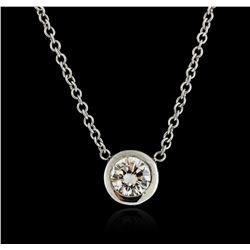 14KT White Gold 0.35 ctw Diamond Necklace