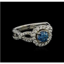 1.23 ctw Fancy Blue Diamond Ring - 14KT White Gold