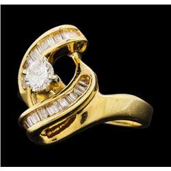0.69 ctw Diamond Ring - 14KT Yellow Gold