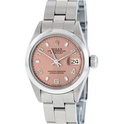 Rolex Stainless Steel DateJust Oyster Band Ladies Watch