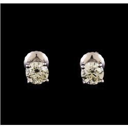 14KT White Gold 1.16 ctw Diamond Solitaire Earrings