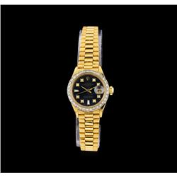 Rolex 18KT Gold Diamond DateJust Ladies Watch