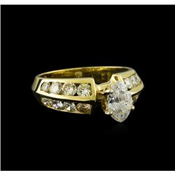 2.35 ctw Diamond Ring - 14KT Yellow Gold