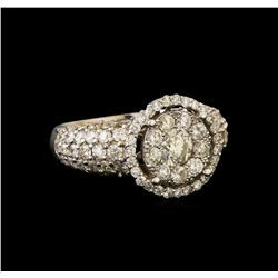 14KT White Gold 2.62 ctw Diamond Ring