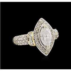 1.71 ctw Diamond Ring - 14KT Two-Tone Gold