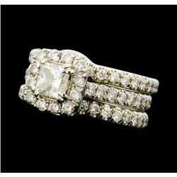 1.75 ctw Diamond Bands - 14KT White Gold