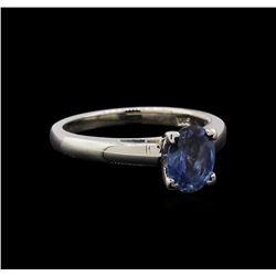 1.40 ctw Sapphire Ring - Platinum