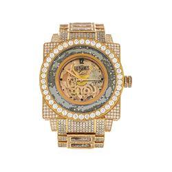 Dunamis 18KT Rose Gold 18.00 ctw Diamond Men's Watch