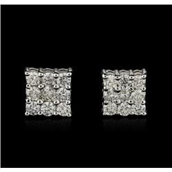 14KT White Gold 1.24 ctw Diamond Earrings