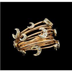 14KT Rose Gold 0.15 ctw Diamond Ring