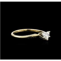 0.27 ctw Diamond Solitaire Ring - 14KT Yellow Gold