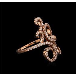 0.70 ctw Diamond Ring - 14KT Rose Gold