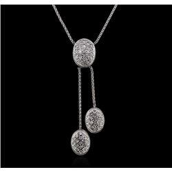 1.20 ctw Diamond Necklace - 14KT White Gold