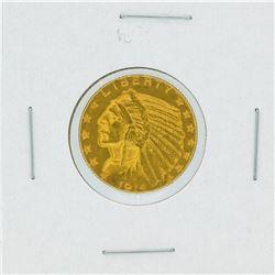 1914-D $5 Indian Head Half Eagle Gold Coin