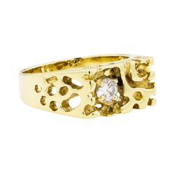 0.30 ctw Men's Nugget Ring - 14KT Yellow Gold