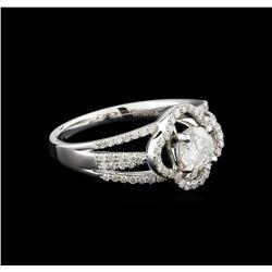 14KT White Gold 0.97 ctw Diamond Ring