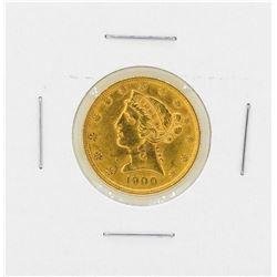 1900 $5 Libery Head Gold Coin