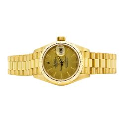 Rolex 18KT Yellow Gold Ladie's Presidential Wristwatch