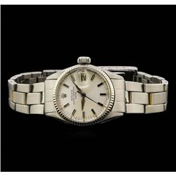 Ladies Stainless Steel Rolex Vintage Wristwatch