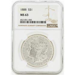 1888 MS63 NGC Morgan Silver Dollar