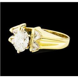 1.45 ctw Diamond Ring - 14KT Yellow Gold