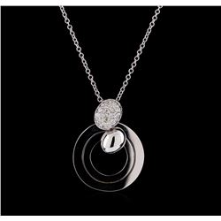 0.25 ctw Diamond Pendant with Chain - 14KT White Gold